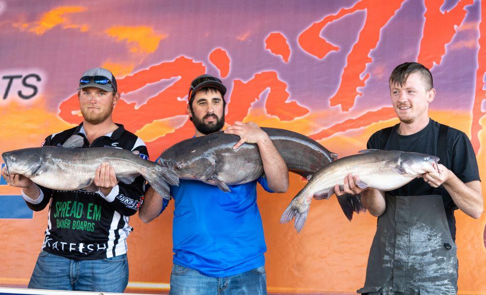 Catfish, tournament, Catmasters, blue catfish, flathead catfish, Grove, OK, Grand Lake, Bryan St Alma, Ty Lee Nail, Trey Franklin, Asa May, Stephen Banaszak