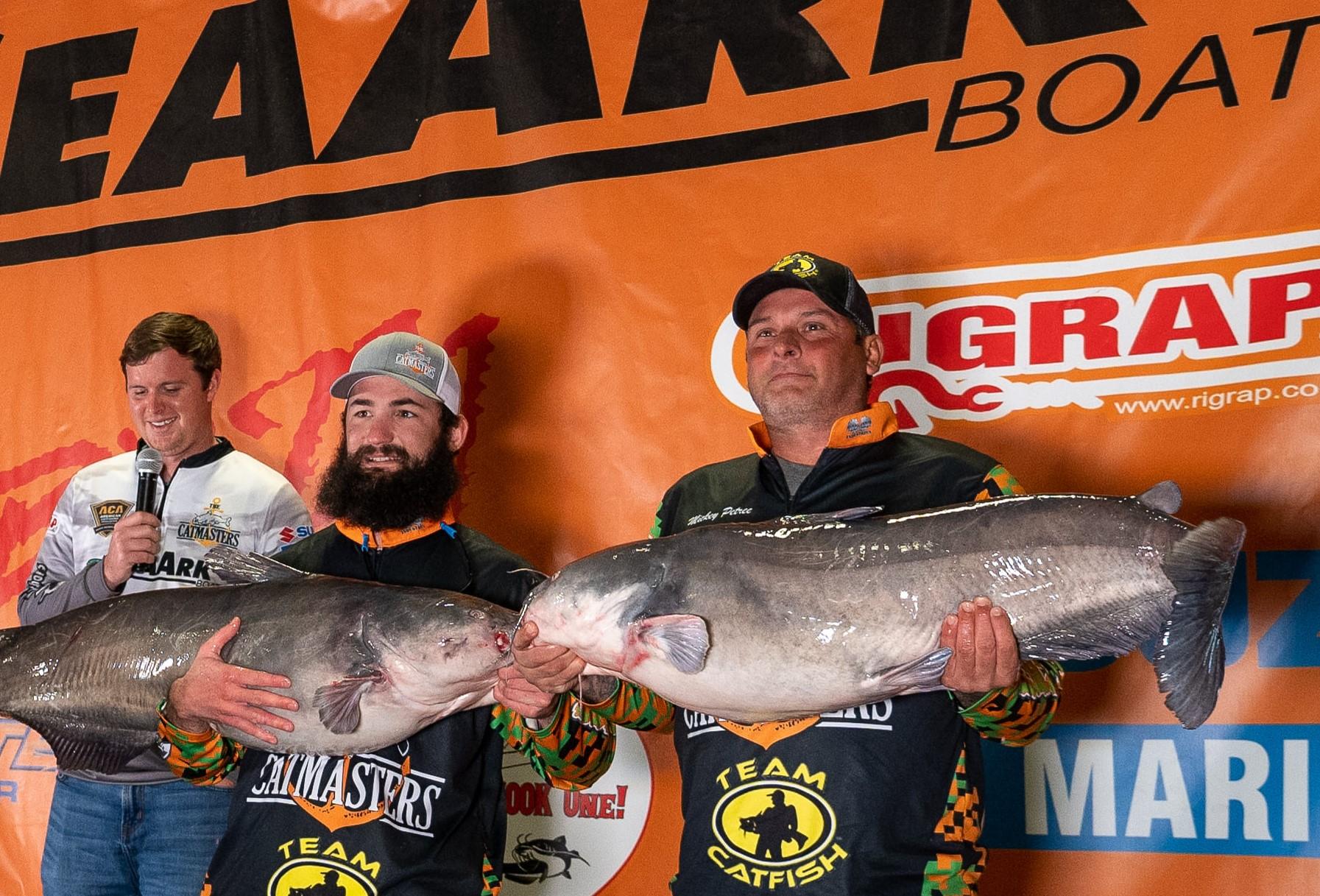 catfish, tournament, Catmasters, Oklahoma, Texoma, Mick Petree, Smoky Brown, BnM Poles, SeaArk Boats