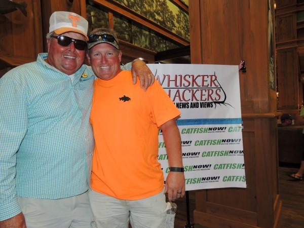 Bill Dance identifies education as the key to growing the sport of catfishing. HE is shown here with one of his fishing buddies, Roy Harkness.