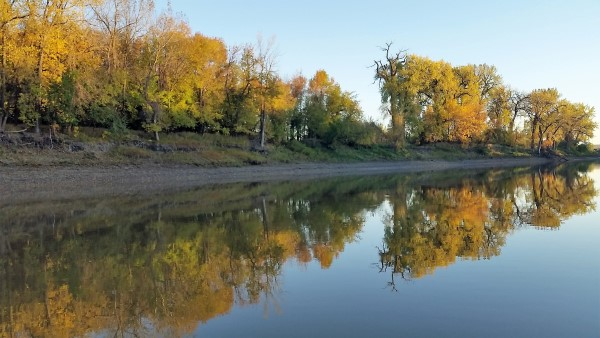 The Red River of the North can be more than just catfishing it can be beautiful scenery and wildlife.
