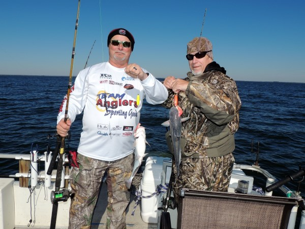 Doubles are not unusual on Allen's boat. These nice eaters went home to the dinner table.