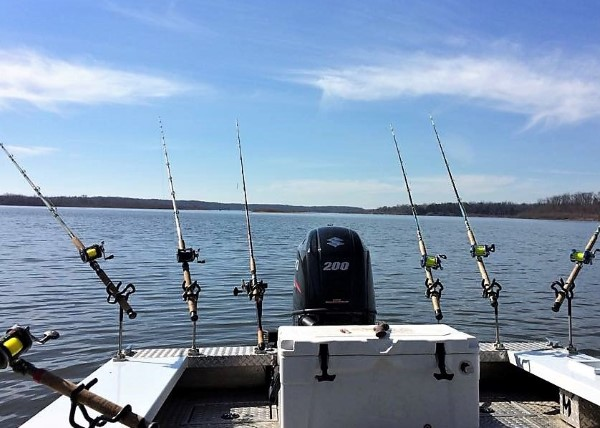 Nothing is more peaceful than rods in the water in wait for Mr. Whiskers.
