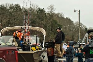 Asking a friend or other tournament angler to drive the tow vehicle through the weigh-in line speeds up the process considerably and allows the entire team to enjoy the experience.